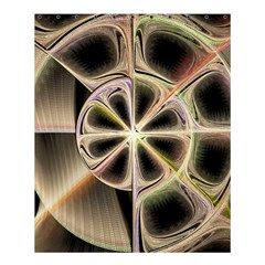 Background With Fractal Crazy Wheel Shower Curtain 60  X 72  (medium)  by Simbadda