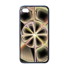 Background With Fractal Crazy Wheel Apple Iphone 4 Case (black)