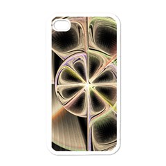 Background With Fractal Crazy Wheel Apple Iphone 4 Case (white)