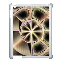 Background With Fractal Crazy Wheel Apple Ipad 3/4 Case (white) by Simbadda