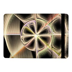 Background With Fractal Crazy Wheel Samsung Galaxy Tab Pro 10 1  Flip Case by Simbadda