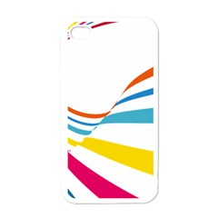 Line Rainbow Orange Blue Yellow Red Pink White Wave Waves Apple Iphone 4 Case (white) by Mariart