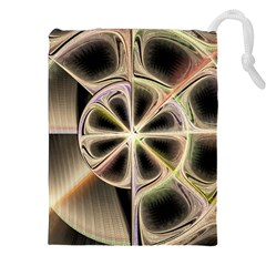 Background With Fractal Crazy Wheel Drawstring Pouches (xxl)