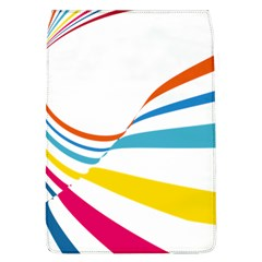 Line Rainbow Orange Blue Yellow Red Pink White Wave Waves Flap Covers (l)  by Mariart