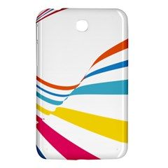 Line Rainbow Orange Blue Yellow Red Pink White Wave Waves Samsung Galaxy Tab 3 (7 ) P3200 Hardshell Case  by Mariart
