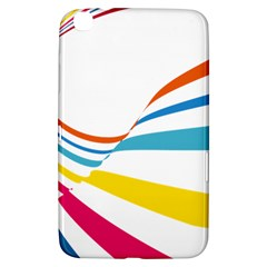 Line Rainbow Orange Blue Yellow Red Pink White Wave Waves Samsung Galaxy Tab 3 (8 ) T3100 Hardshell Case  by Mariart