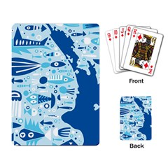 New Zealand Fish Detail Blue Sea Shark Playing Card by Mariart