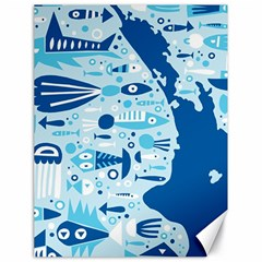 New Zealand Fish Detail Blue Sea Shark Canvas 18  X 24   by Mariart