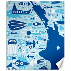 New Zealand Fish Detail Blue Sea Shark Canvas 20  X 24   by Mariart
