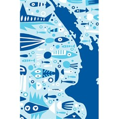 New Zealand Fish Detail Blue Sea Shark 5 5  X 8 5  Notebooks by Mariart