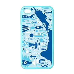 New Zealand Fish Detail Blue Sea Shark Apple Iphone 4 Case (color) by Mariart