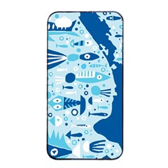 New Zealand Fish Detail Blue Sea Shark Apple Iphone 4/4s Seamless Case (black) by Mariart