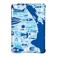 New Zealand Fish Detail Blue Sea Shark Apple Ipad Mini Hardshell Case (compatible With Smart Cover) by Mariart