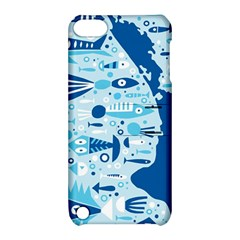 New Zealand Fish Detail Blue Sea Shark Apple Ipod Touch 5 Hardshell Case With Stand