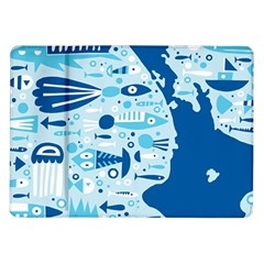 New Zealand Fish Detail Blue Sea Shark Samsung Galaxy Tab 10 1  P7500 Flip Case by Mariart