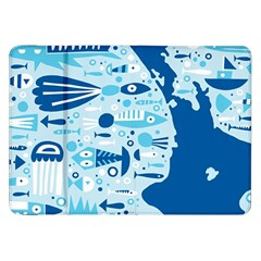 New Zealand Fish Detail Blue Sea Shark Samsung Galaxy Tab 8 9  P7300 Flip Case by Mariart