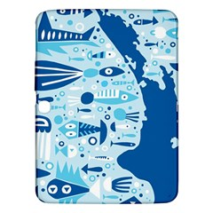 New Zealand Fish Detail Blue Sea Shark Samsung Galaxy Tab 3 (10 1 ) P5200 Hardshell Case  by Mariart
