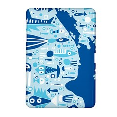 New Zealand Fish Detail Blue Sea Shark Samsung Galaxy Tab 2 (10 1 ) P5100 Hardshell Case  by Mariart
