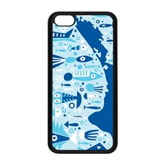 New Zealand Fish Detail Blue Sea Shark Apple Iphone 5c Seamless Case (black) by Mariart