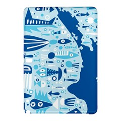 New Zealand Fish Detail Blue Sea Shark Samsung Galaxy Tab Pro 10 1 Hardshell Case by Mariart