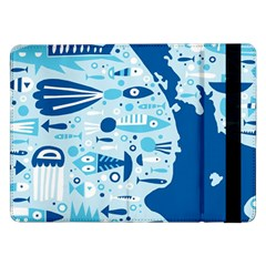 New Zealand Fish Detail Blue Sea Shark Samsung Galaxy Tab Pro 12 2  Flip Case by Mariart
