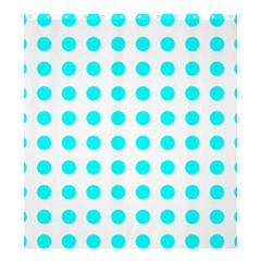 Polka Dot Blue White Shower Curtain 66  X 72  (large)  by Mariart
