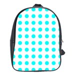 Polka Dot Blue White School Bags(Large)  Front