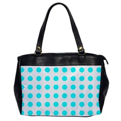 Polka Dot Blue White Office Handbags by Mariart