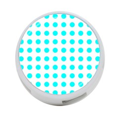 Polka Dot Blue White 4 Port Usb Hub (two Sides)  by Mariart