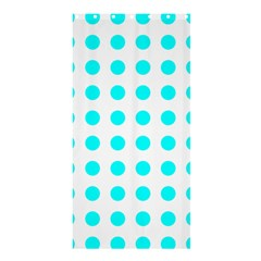Polka Dot Blue White Shower Curtain 36  X 72  (stall)  by Mariart
