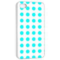 Polka Dot Blue White Apple Iphone 4/4s Seamless Case (white) by Mariart