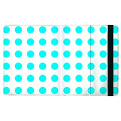 Polka Dot Blue White Apple Ipad 2 Flip Case by Mariart