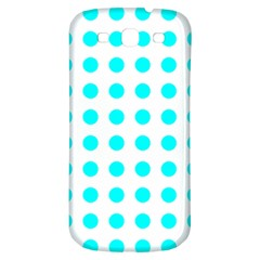 Polka Dot Blue White Samsung Galaxy S3 S Iii Classic Hardshell Back Case by Mariart