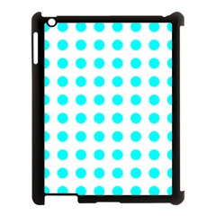 Polka Dot Blue White Apple Ipad 3/4 Case (black) by Mariart