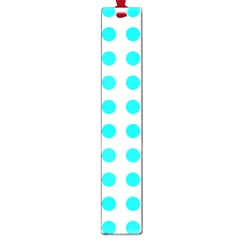 Polka Dot Blue White Large Book Marks by Mariart