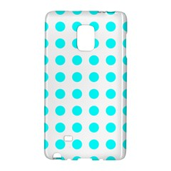 Polka Dot Blue White Galaxy Note Edge by Mariart