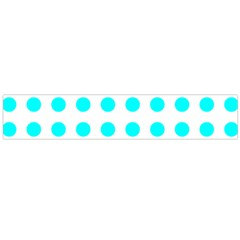 Polka Dot Blue White Flano Scarf (large) by Mariart