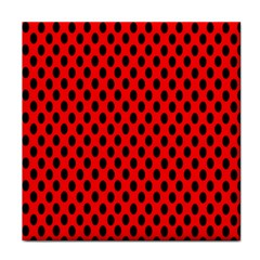 Polka Dot Black Red Hole Backgrounds Tile Coasters by Mariart