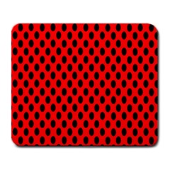 Polka Dot Black Red Hole Backgrounds Large Mousepads by Mariart