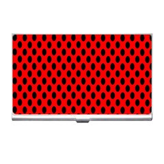 Polka Dot Black Red Hole Backgrounds Business Card Holders