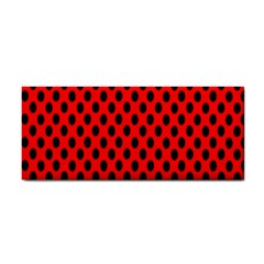 Polka Dot Black Red Hole Backgrounds Cosmetic Storage Cases by Mariart