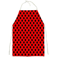 Polka Dot Black Red Hole Backgrounds Full Print Aprons by Mariart