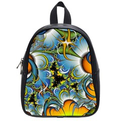 High Detailed Fractal Image Background With Abstract Streak Shape School Bags (small)  by Simbadda