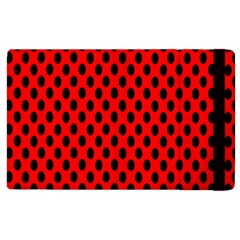 Polka Dot Black Red Hole Backgrounds Apple Ipad 3/4 Flip Case by Mariart