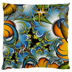 High Detailed Fractal Image Background With Abstract Streak Shape Large Cushion Case (two Sides) by Simbadda