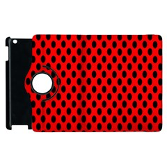 Polka Dot Black Red Hole Backgrounds Apple Ipad 2 Flip 360 Case by Mariart