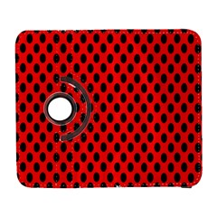 Polka Dot Black Red Hole Backgrounds Galaxy S3 (flip/folio) by Mariart