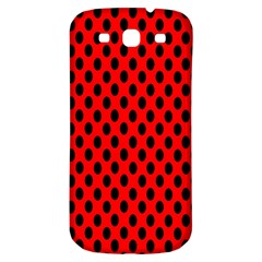 Polka Dot Black Red Hole Backgrounds Samsung Galaxy S3 S Iii Classic Hardshell Back Case by Mariart