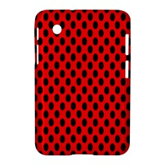 Polka Dot Black Red Hole Backgrounds Samsung Galaxy Tab 2 (7 ) P3100 Hardshell Case  by Mariart