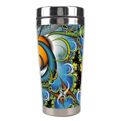 High Detailed Fractal Image Background With Abstract Streak Shape Stainless Steel Travel Tumblers by Simbadda